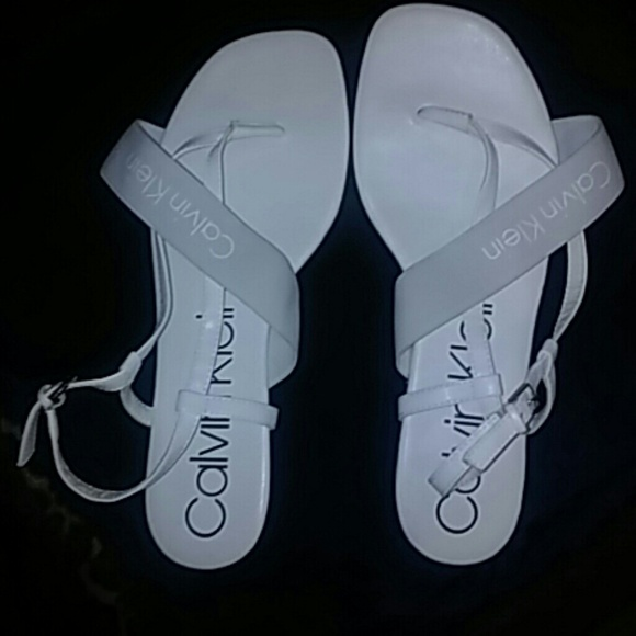 f2aa53b2ec4 Calvin Klein Shoes - Calvin Klein Women size 10 white sandals